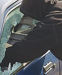 Six cars were broken into and robbed.