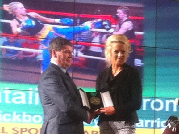 Natalie McCarron wins the martial arts award