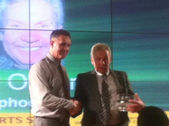 Peter O'Donnell gets the recognition award