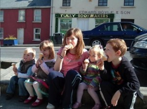 Madeleine in Donegal, pictured second from left in April 2007. She disappeared in Portugal two weeks later.
