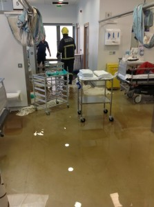 A scene from the flooded hospital last summer donegaldaily.com