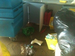 Many personal items were destroyed in the flood.