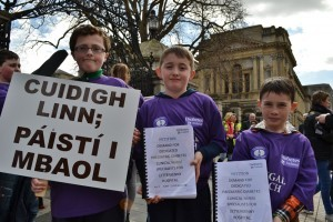 Donegal's children with diabetes bring their petition for a dedicated CNS to Dáil Éireann