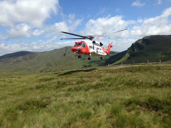The Sligo 118 chopper touches down at the scene