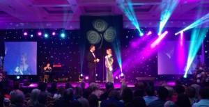 Tamara Payne onstage with Daithi O Se