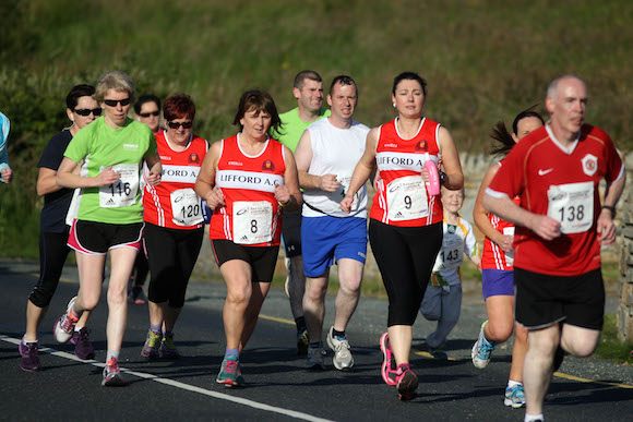 Competitors in the Carrigart 5k on Friday night.