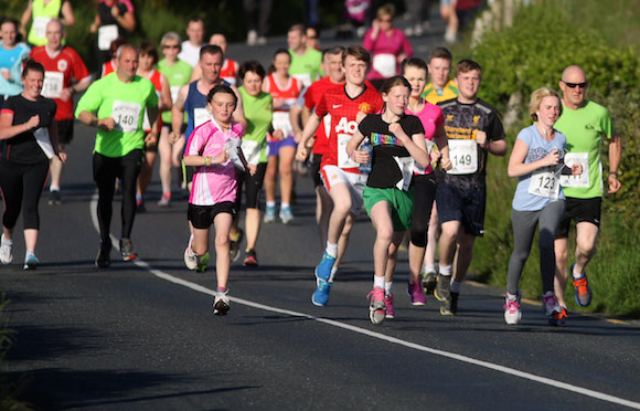 And there off.. competitors on Friday night in the Carrigart 5k in aid of the Irish Wheelchair Association. Photos Brian McDaid