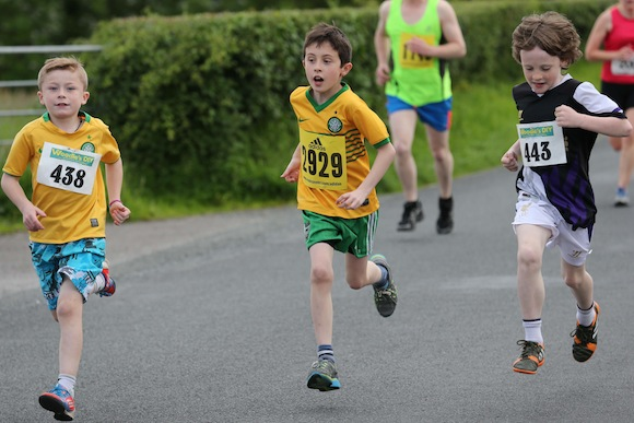 Young lads taking part in the Sessiagoneill NS 5K Fun Run & Walk. Pic.: Gary Foy, newsandsportfiles