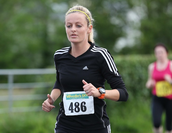 A Female athlete pictured along the route of the Sessiaghoneill NS 5K Fun Run & Walk. Pic.: Gary Foy, newsandsportfiles