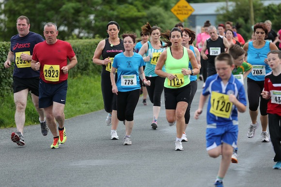 There was a large turnout for the Sessiaghoneill NS 5K Fun Run & Walk. Pic.: Gary Foy, newsandsportfiles