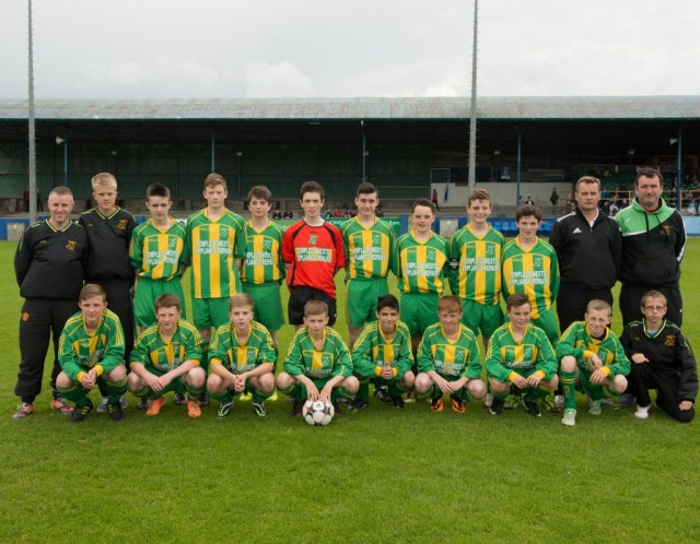 Bonagee  U14 Champions League Team before the final.  Photo Clive Wasson