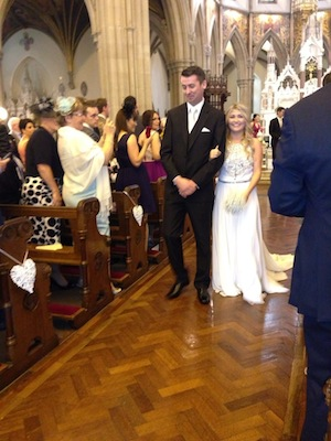 Kevin and Laura walk down the aisle as husband and wife!!