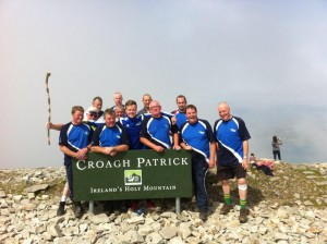 DARA was with this group from St Johnston celebrating at the top of Croagh Patrick