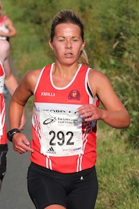 irst home in the Senior Womens race was Claire Mc Guigan of Lifford AC. Pic.: Gary Foy