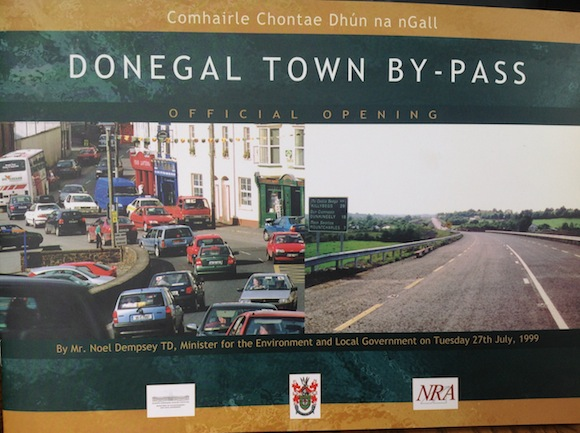 The brochure for the original Donegal Town by-pass in 1999.