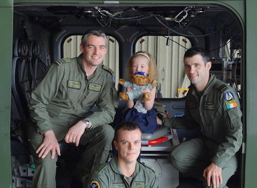 Hannah and her heroes!