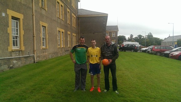 Oisin with Michael and Neil