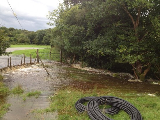 It was a field, now it's a lake in Carrigart.