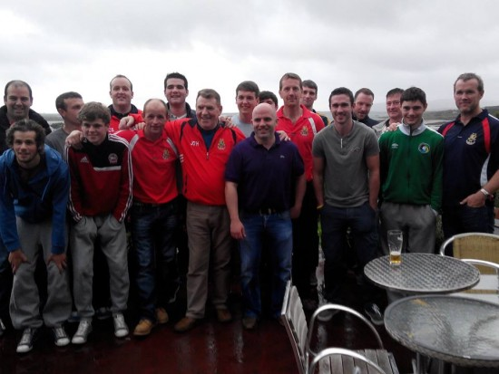 Dungloe celebrate capturing the All-County Division Two title after defeating St Naul's earlier this afternoon.