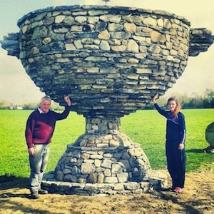 Hundreds of people have been to see Anthony Barrett's Stone Sam in Newtowncunningham!