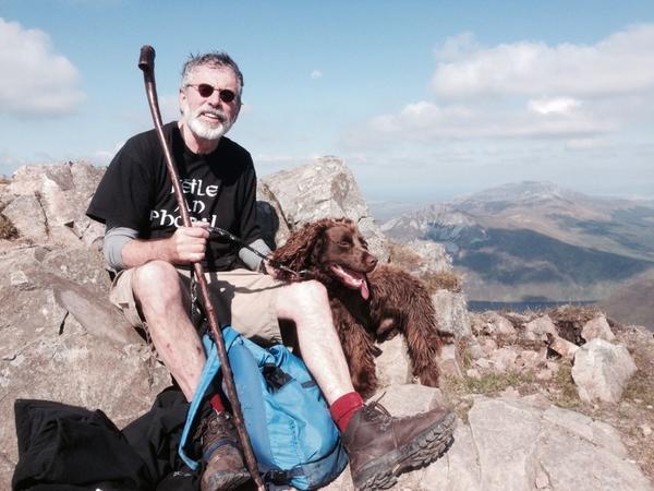 Gerry Adams on top of Errigal today