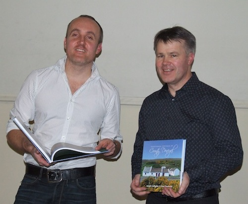 Greg Stevenson and Joseph Gallagher with their unique book.