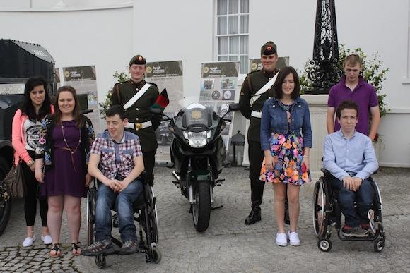 With defence force: Sinead Byrne, Shauna Coll, Marc Anderson, Leah Anderson, Saoirse Doyle, Gavin McElhinney