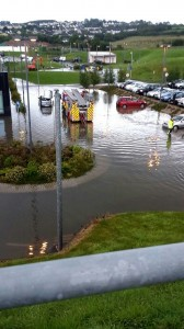 The scene last night in the car park at the Emergency Department donegaldaily.com