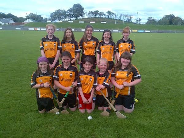 The St Eunan's U14 camogie team after their game last week against Four Masters