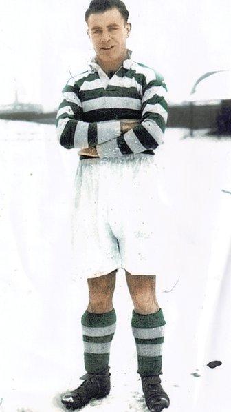 Hughie Dick Doherty in the 1936/37 season at Celtic.