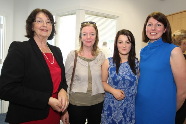 Marie Therese Lacy, Siobhan Cullen, Cathy Ruddy and Gillian Brennan at the official opening of Nathaniel Lacy Partners Solicitors offices at the Riverside Centre, Letterkenny.