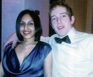 Dhara with her husband Michael