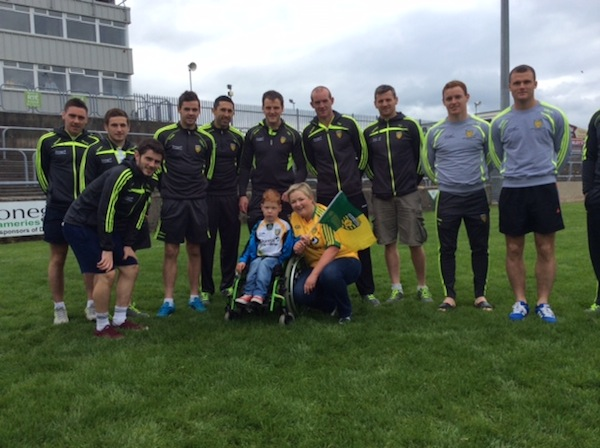 Some of the Donegal team backing Pau and Anne-Marie's campaign.