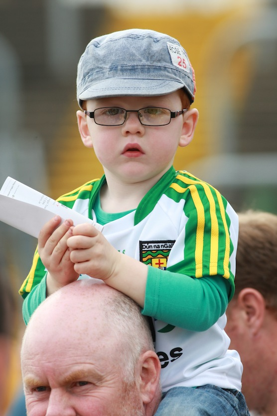 Lee Mc Granaghan  from Ballybofey with his father Hugh at the fans day in Ballybofey.