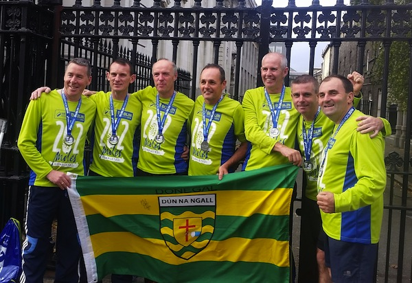 Runners from Finn Valley and Castlefin after successful runs in today's Dublin Marathon. Word has it that the lads enjoyed a pint of Guinness or several after all their hard work. Congrats all 'round!