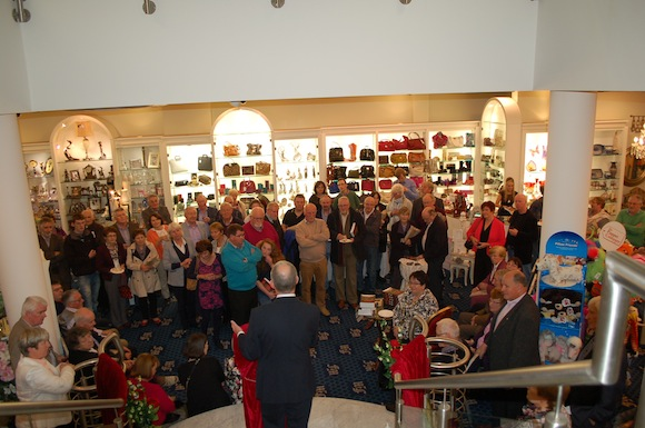MC & Proprietor Of the Four Masters Bookshop; Colm O Rourke addressing the crowd