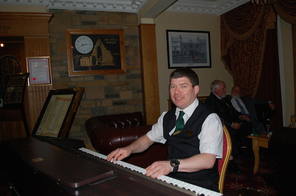 Resident piano player in the Abbey: John Smith