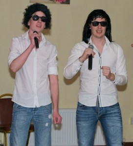 Michael Quinn and Stephen Craig who were brilliant performing a number from The Monkees.