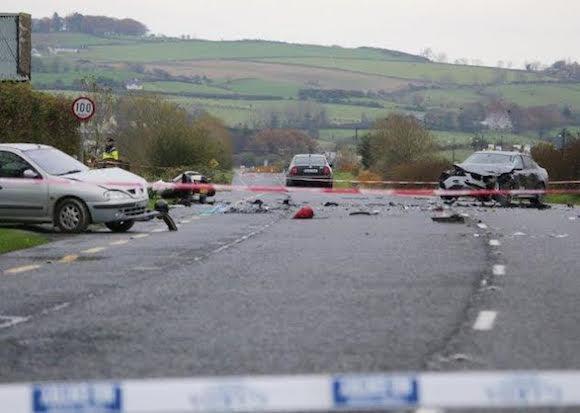 The scene of last night's crash on the N13 at Burt. Pic North West News Pix