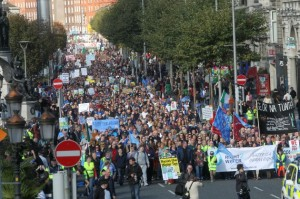 The protest in Dublin was massive last month and organisers are expecting the same tomorrow.