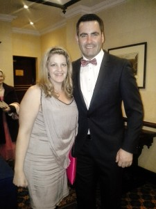 Paul Durcan with Michelle Cassidy (VLM Board of Management) at VLM's recent Gala Ball.