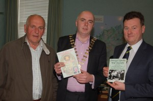 The Donegal County manager Seamus Neely, Mayor John Campbell and Cllr Tom Conaghan a previous winner of the award in 1982 at the Donegal Sports Star Awards launch.