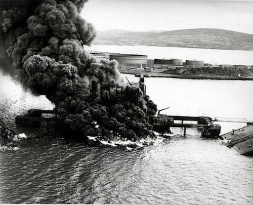 The Whiddy Island disaster. Pic courtesy of RTE.