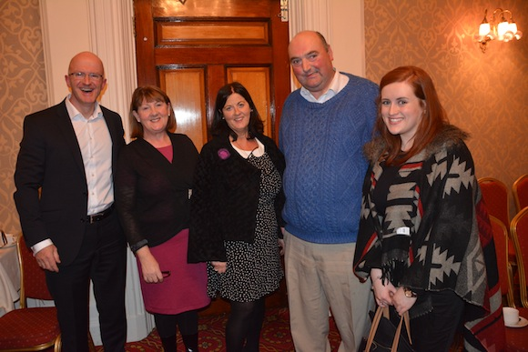 Hugh McGroddy, Marian Caffrey, Sorcha Ni Dhomhnaill, Siobhan Shovlin at the Donegal Association AGM in Dublin.