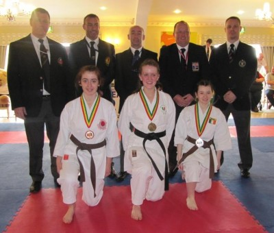 Laura Browne and Elaine Dullaghan took silver and gold respectively in individual kata