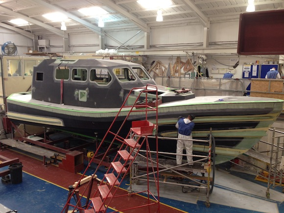 The new Shannon lifeboat begins to take shape.