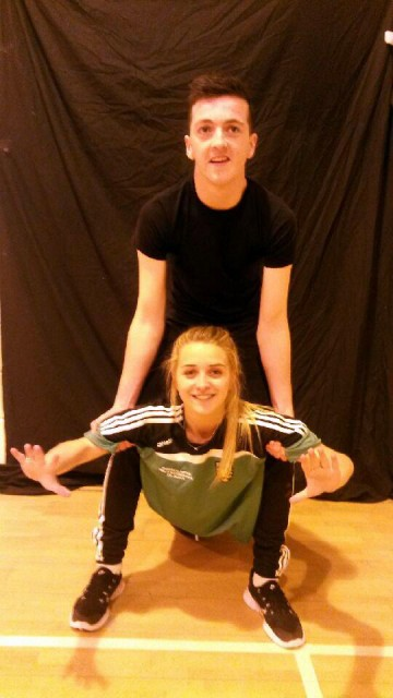 Two of the students who will be dancing on the night of the Deele College Strictly Come Dancing on December 6th are Shea McDaid and Victoria Kelly.