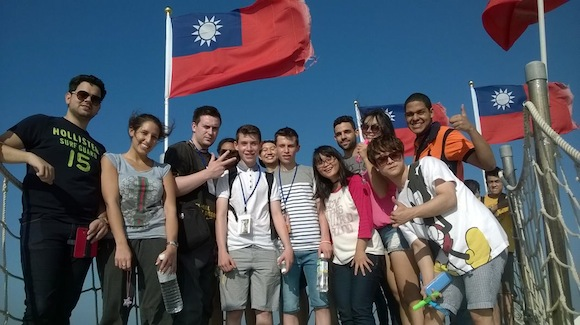 Some of the students in Taiwan.