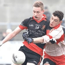 Sean Hume pictured in action for St Eunan's College is hoping St Eunan's can overcome Dungloe in this Saturday's Donegal Senior Reserve Championship Final.