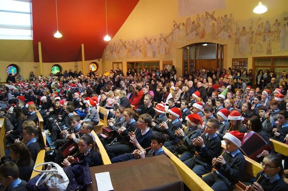 The huge crowd at the school pageant. All pics by Shane Wallace.